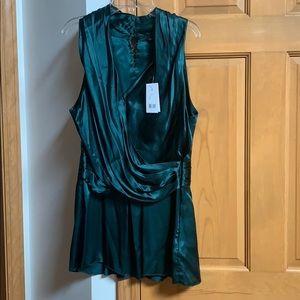 Banana republic NWT Womens Silk Green blouse 12